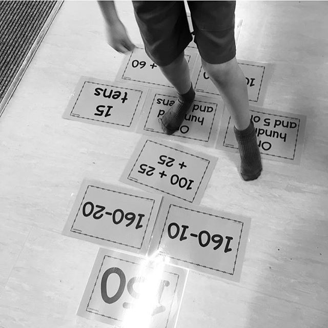 Partitioning practice using life sized hopscotch. Partitioning in standard and the trickier concepts non-standard form can be a challenging for students. This is a fun and engaging way to teach students. Hopscotch resource can be found in our Whole Number Hopscotch pack.