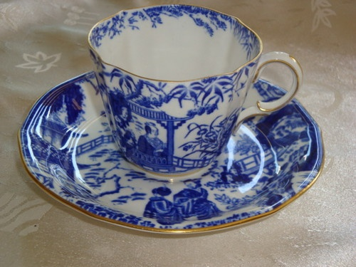 Royal Crown Derby MIKADO Tea Cup and Saucer Duet ~ 1920's