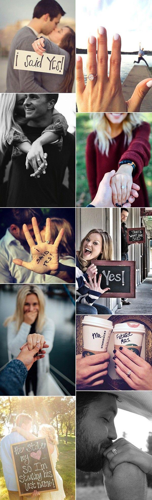 best wedding engagement announcement photo ideas