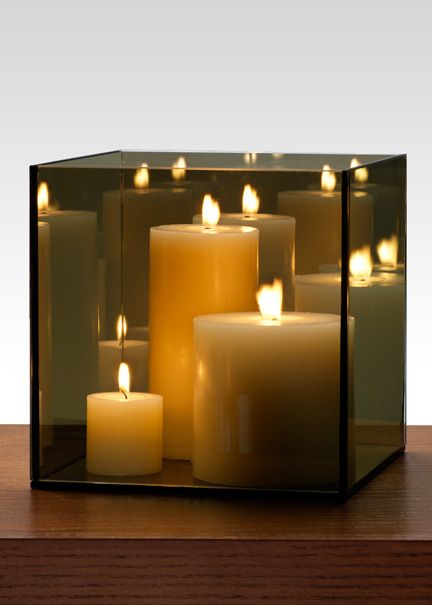 8in reflective mirror candle holder pretty wedding stuff - Candle and mirror centerpieces ...