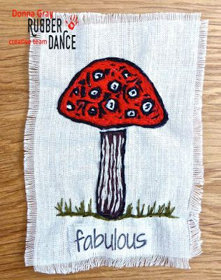 * Rubber Dance Blog *: This is Not a Mushroom Soup Recipe Stamp onto fabric!