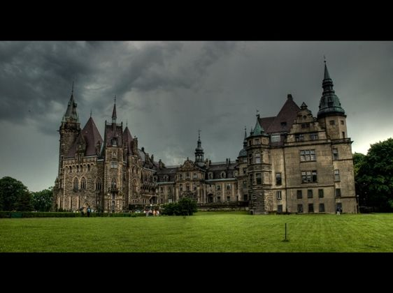 Castle in Moszna, Poland ..