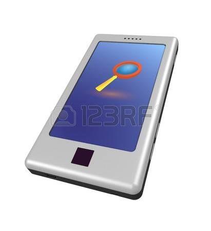 Modelo tridimensional - un móvil moderno.