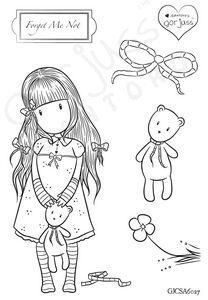 Gorjuss Girl - Just Arrived!! FORGET ME NOT Teddy Bears Clear Stamp Sets New