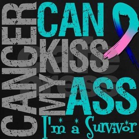 Thyroid Cancer Can Kiss My Ass T-Shirt   CafePress.com