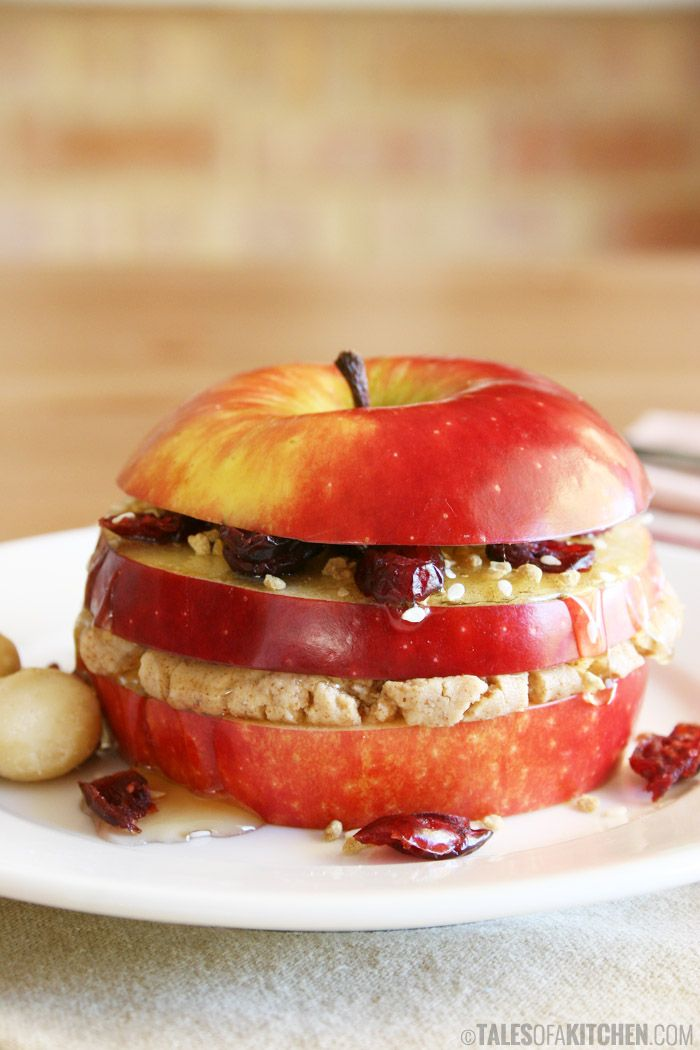 Check out my triple layered breakfast apple sandwich. It doesn't get healthier, simpler and faster than this.