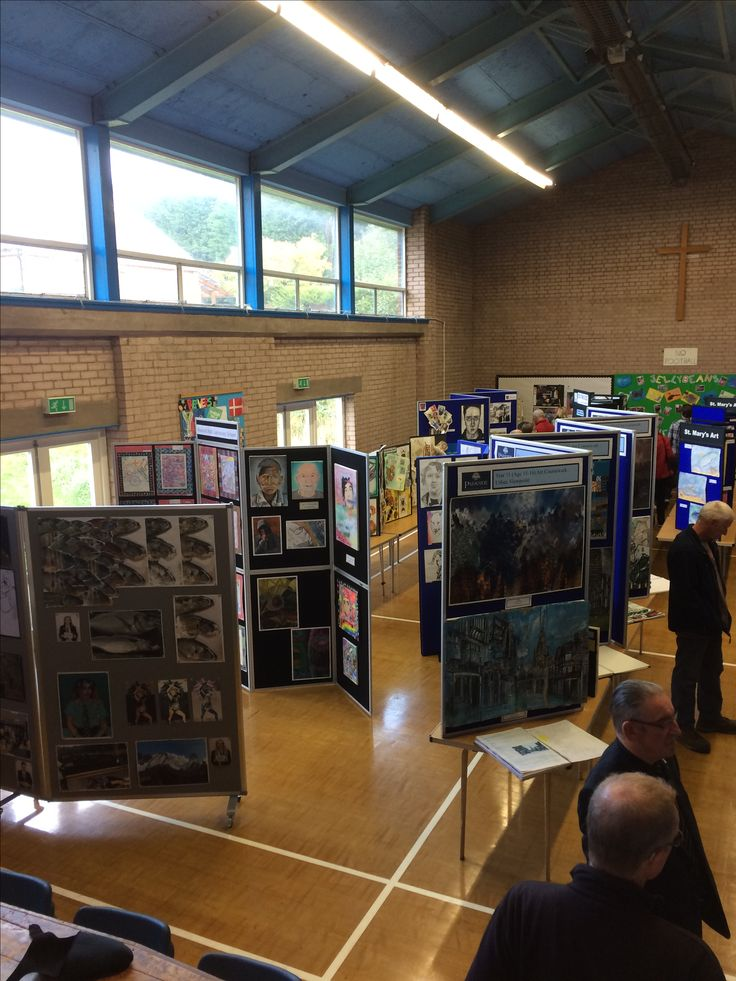 Chesterfield Senior School Art Exhibition, St Andrews Church, October 2017.