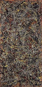 No. 5, 1948 - Wikipedia, the free encyclopedia.  On an 8' × 4' sheet of fiberboard. According to a report in The New York Times on November 2, 2006, the painting was sold by David Geffen, founder of Geffen Records and co-founder of Dreamworks SKG, to David Martinez, managing partner of Fintech Advisory Ltd, in a private sale for a record inflation-adjusted price of $140 million.