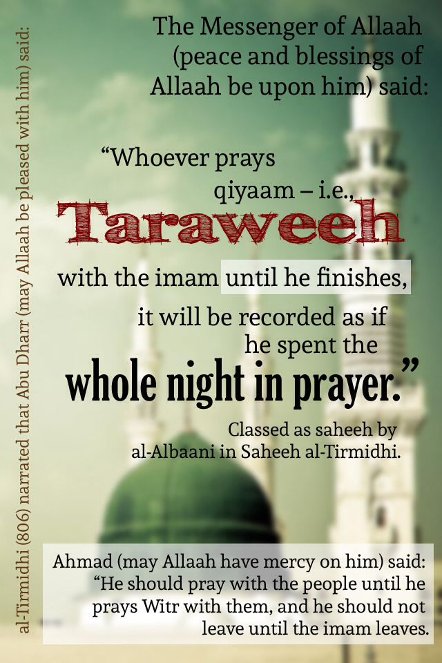 Virtue of #taraweeh (#Ramadan)