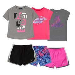 Toddler Girl Nike Active Tee & Shorts Mix & Match Outfits