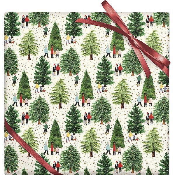Christmas Tree Farm Stone Wrapping Paper In 2020 Stone Wrapping Paper Christmas Decorations Eco Christmas