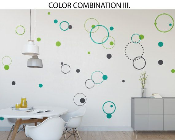 Circles Wall Decal Wall Art Stickers Kitchen Wall By GlixWallDecal Part 38