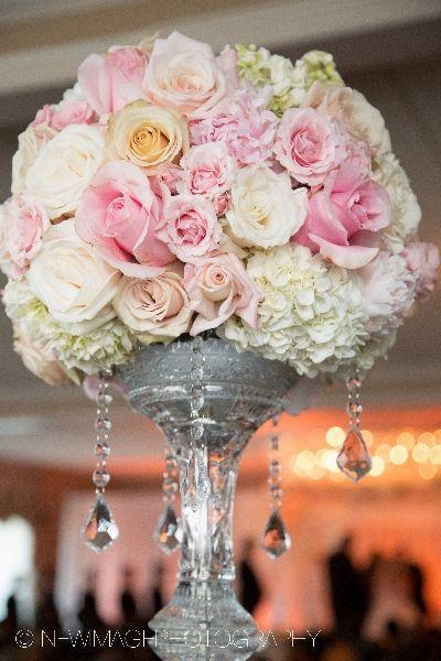 pink hydrangea wedding centerpieces - Google Search