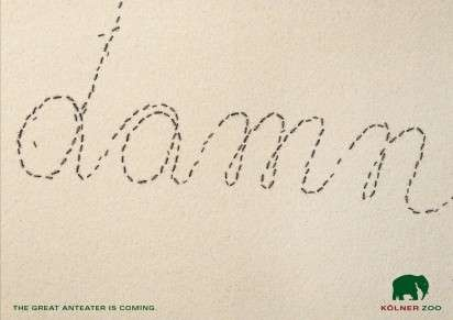 Insect Typography Ads - Kolner Zoo's The Great Anteter is Coming Campaign is Doomed