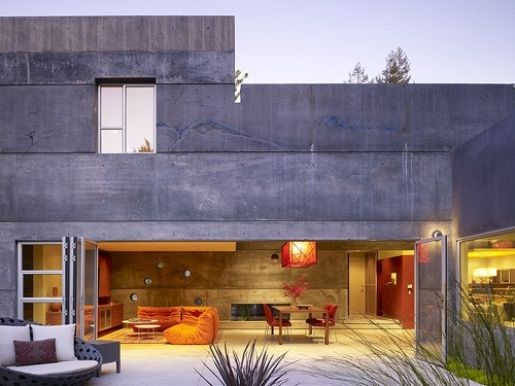 Concrete heaven: Concrete Architecture, Dreams Houses, Living Rooms, Open Spaces, Indoor Outdoor, Modern Architecture, Concrete Houses, Cheng Design, Outdoor Spaces