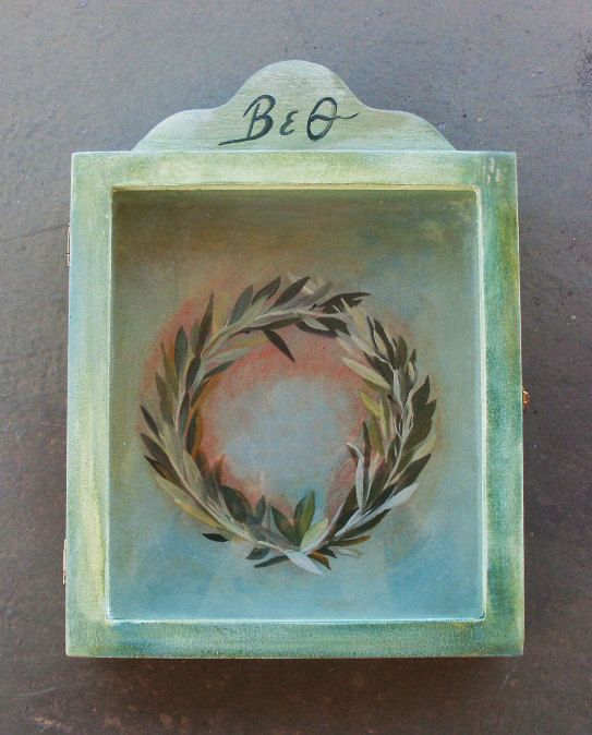Wedding Crown Display Box - Stefanothiki - Olive Wreath