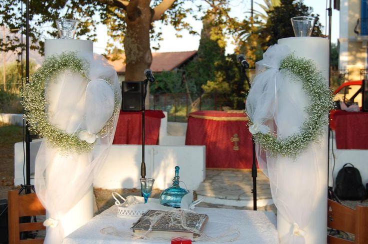 Στολισμός γάμου λαμπαδες