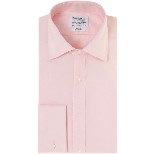 TM Lewin Non-iron Fine Twill Regular Fit Shirt ($52) ❤ liked on Polyvore featuring men's fashion, men's clothing, men's shirts, men's dress shirts, men shirts formal shirts, mens long sleeve dress shirts, mens travel shirts, mens classic fit shirts, no iron mens shirts and men's regular fit shirts