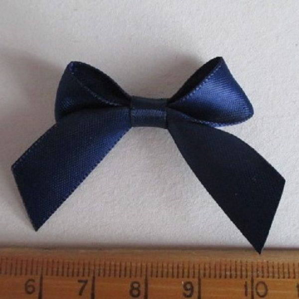 SATIN BOWS APPROXIMATELY 4cm ACROSS PANTONE COLOUR CHART -370 NAVY BLUE WEDDING STATIONERY SUPPLIES FROM www.vintagelaceweddingcards.co.uk PLEASE SHARE