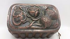 Antique Victorian Copper Jelly Aspic Mold Mould Scottish Thistle Rose Shamrock