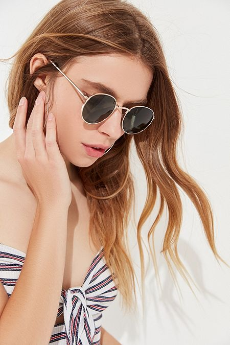 3999100978 Dyllon Metal Round Sunglasses in 2019 | SS18 | Round sunglasses ...