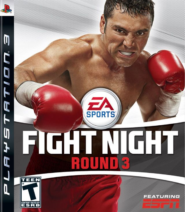 """FIGHT NIGHT ROUND 3  -  It is the third boxing title in the Fight Night franchise. It features the usual improvements such as better graphics and gameplay. """"Impact Punches"""" are one of the most drastic changes, along with ESPN Classic fights and a new career mode, in which the player fights to gain popularity in order to reach sponsored fights, or to be featured on ESPN."""