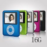 ACE DEAL MINI 16G Memory Blue Color Slim Classic Digital LCD MP3 Player / MP4 Player, MP3 Music Player @ Discountsbyglen.info
