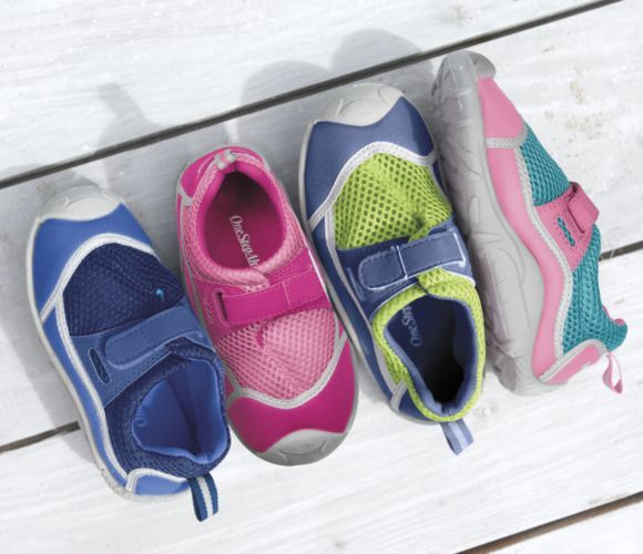 Stay Put Adjustable Water Shoes for Kids from One Step Ahead   2Q30793