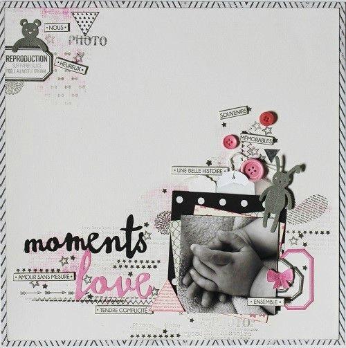 Bonjour,  Pour ce scraplift de Juillet , j'ai choisi cette très jolie page de Natnat: http://lescrapananat.blogspot.fr/ Et voici...