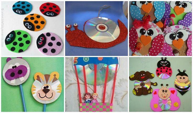Ideas para reciclar cds con los ni os crafts for kids - Cositas para bebes manualidades ...