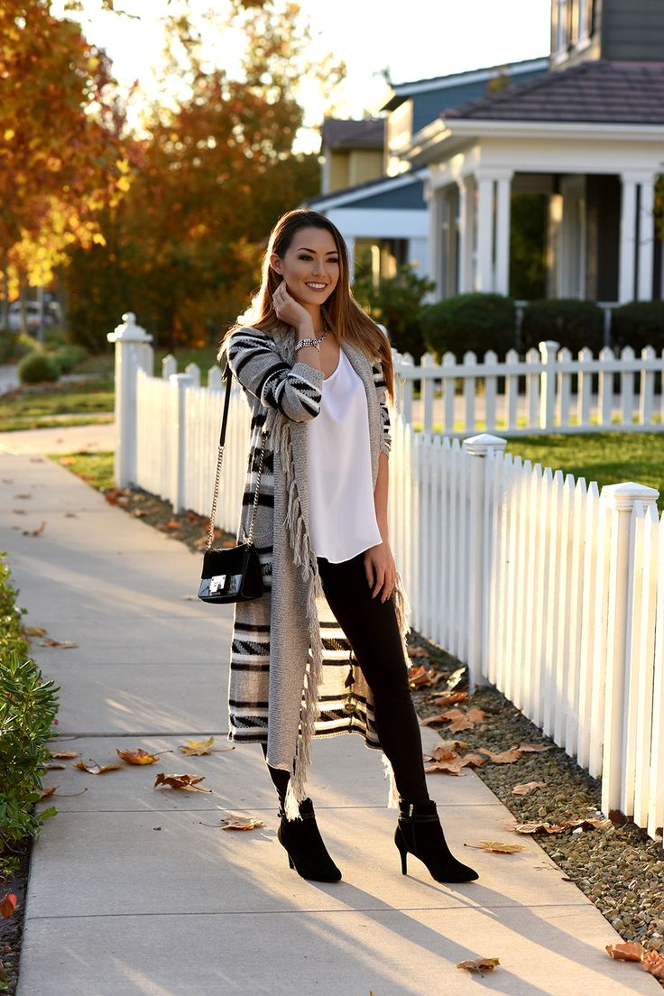 Jessica Ricks Rockport Booties | Kitsch Couture Cardigan (call 408.354.7909 to order) | Uno De 50 Jewelry | White Tank | Leggings | Jimmy Choo Bag