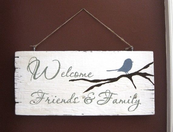 Welcome sign! I LOVE this Etsy shop!