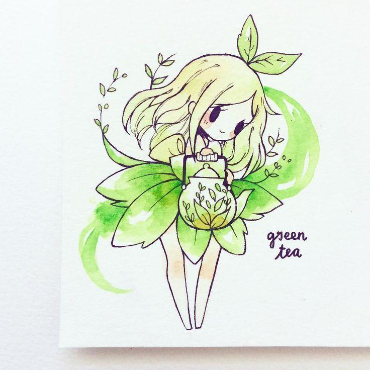 green tea birduyen