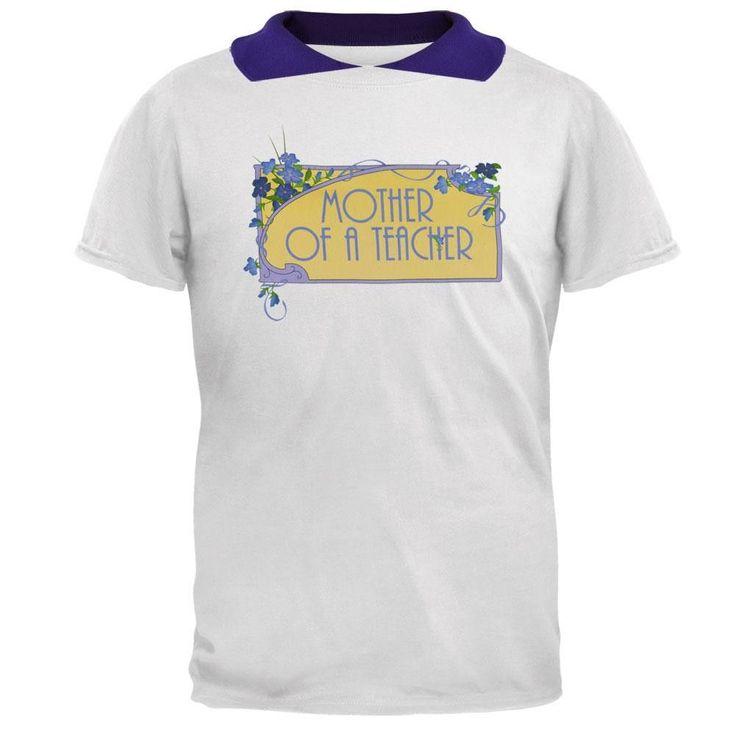 Mother Of A Teacher Women's 2Fer Polo T-Shirt