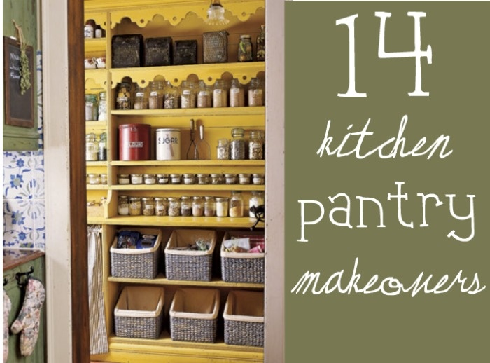 A round up of amazing pantry spaces.  Organized and beautiful pantries all in one post.
