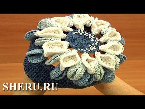 Шапка цветок Урок 8 Crochet gorro para bebe