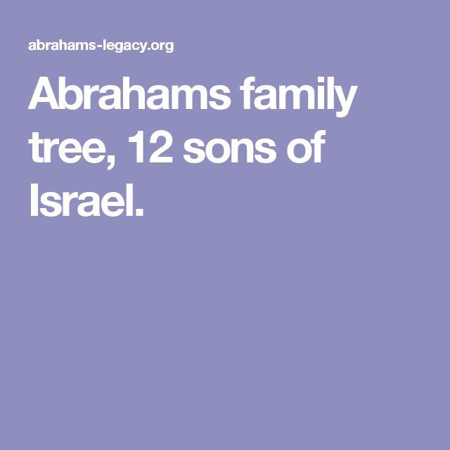 Abrahams family tree, 12 sons of Israel.
