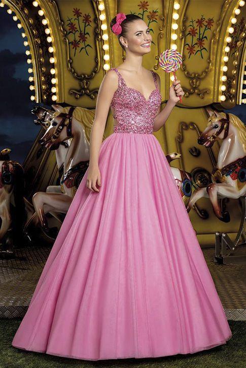 3b3d16c25e Vestido 15 anos Cotton Candy 04 Center Debutantes Rosa pink ou Azul 2 em 1