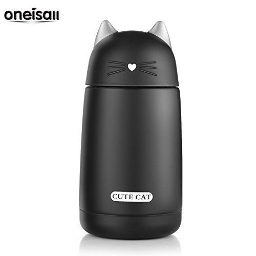Cat Thermos Kids Bottle Drinkware Travel To Go Picnic Drink Containers (Black) | eBay
