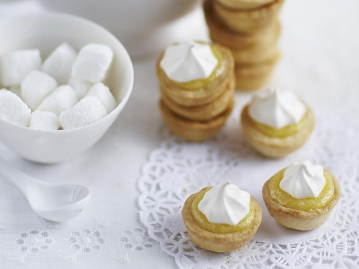 These mini lemon meringue tartlets are everything you'd want in a tasty, sweet morsel. Crispy pastry, sweet yet tart creamy centre and gently toasted meringue on top.