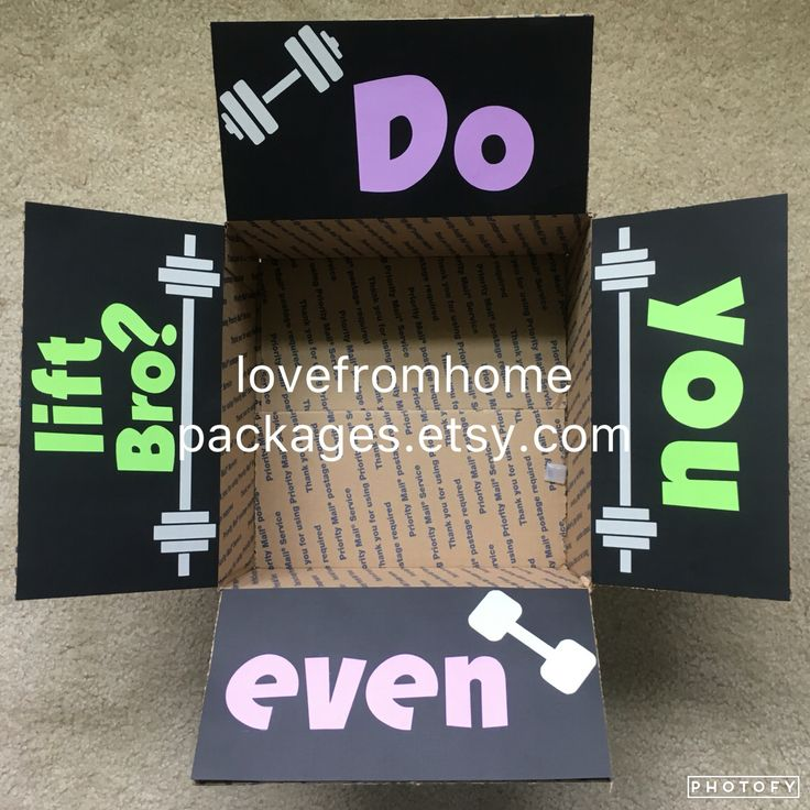 Custom workout and fitness inspired military care package.  Www.lovefromhomepackages.etsy.com