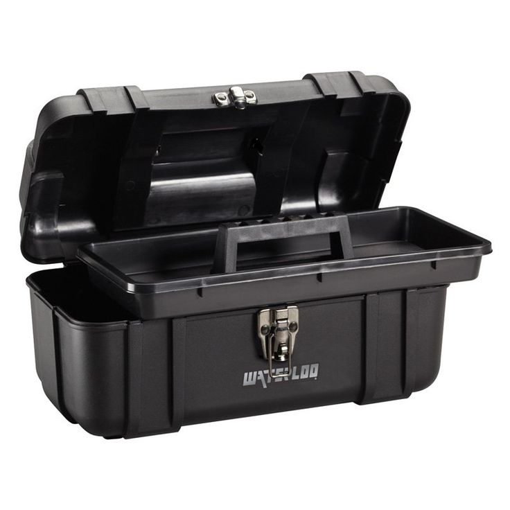 Waterloo 14 in. Plastic Tool Box - PP-1406BK
