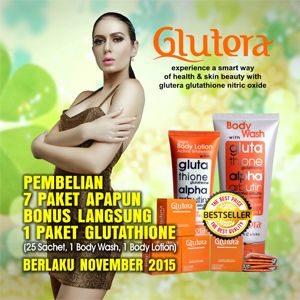 Promo GLUTERA November 2015 | Beli 7 Paket Apapun BONUS Langsung 1 Paket Glutathione | More Information:  0852 8894 6500 (sms/whatsapp) 590F0CB2 (BBM)