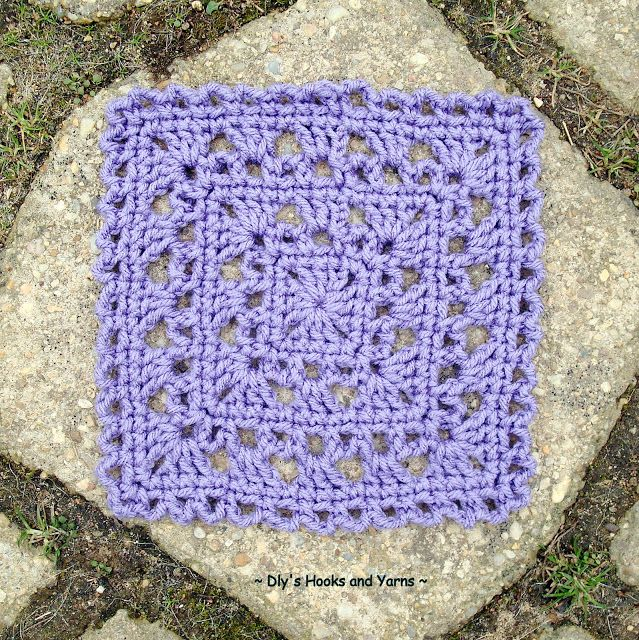 Free Crochet Pattern:  ~ simply pretty ~ ...this is lovely, can be made as large as you want. Would make a pretty baby blanket!