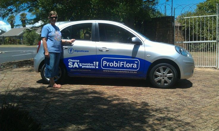 Nicole loves her branded car and Probiflora!