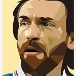 Andrea Pirlo (Il Maestro) illustration by Vittorio Eugenio Moro