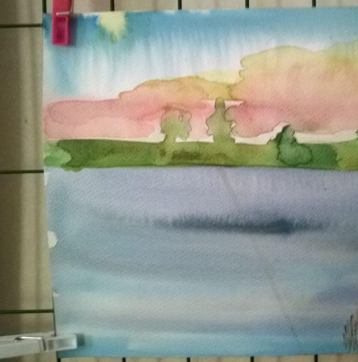 Akvarell...fortfarande nybörjare...