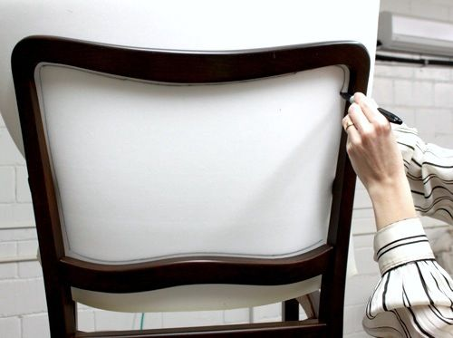 Lovely Removing The Caning And Upholstering A Dining Room Chair Tutorial.