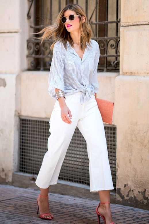A Date-Approved Way To Wear White Culottes