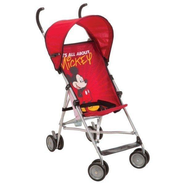 Umbrella Stroller with Canopy for Baby Disney All About Mickey Design. Make trips straightforward with this fun and alluring customizable shade umbrella stroller. The stroller includes an engaging All About Mickey outline that your tyke will love. The protected 3-point tackle makes this stroller sheltered and advantageous. This stroller can hold a youngster up to 40pounds. Simple giving a lesser area occupied and easy to bring with.Enhanced overlap instrument: Easier, more natural…